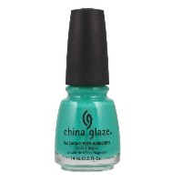 CHINA GLAZE Nail Lacquer with Nail Hardner - Turned Up Turquoise (並行輸入品)