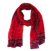 デシグアルFOULARD_RECTANGLE RED DENIMWOMAN WOVEN FOULARDスカーフ3000 57W54H5 U
