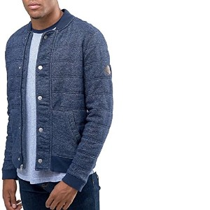 【Hollister Co】 ホリスター メンズ / ロゴ ベースボールジャケット / ネイビー 【L】 【Quilted Bomber Jacket Button Front In Navy】...