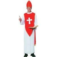 Bristol Novelty White/Red Bishop. Adult Costume - Men's - One Size