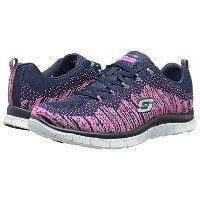 (スケッチャーズ) SKECHERS 靴・シューズ SKECHERS Flex Appeal Navy Mint US 6 (23cm) B