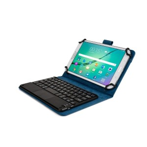 Cooper Cases (TM) Touchpad Executive Prestigio MultiPad Ranger 7.0 Thunder Bluetoothキーボードフォリオ(ブルー)...