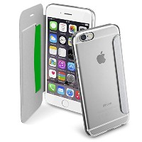 Cellularline iPhone6s ケース 手帳型 シルバー CLEAR BOOK for iPhone6/6s(4.7) 【各種カード収納可】