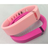 Small 1 Light Pink Candy Pink 1 Pink Band for Fitbit FLEX Only With Clasps Replacement /No tracker/