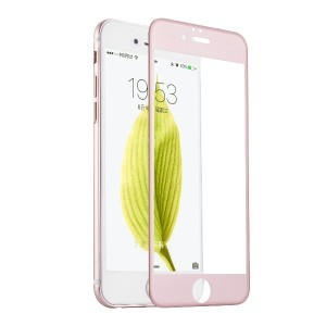 QQPOW iPhone 6s / iphone 6 全面保護 液晶保護フィルム ガラスフィルム 日本製素材 3Dタッチ対応 薄さ0.33mm 硬度9H (iPhone 6 / 6s, ピンク)