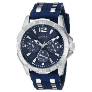 GUESS[ゲス] MODEL NO.u0366g2 Men's U0366G2 Iconic Blue Watch with Silicone Strap & Silver-Tone...