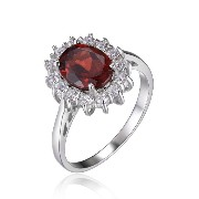 JewelryPalace 2.5ct Kate Middleton(ケイトミドルトン)Diana(ダイアナ) プリンセス デザイン 天然石 婚約 誕生石 1月 ガーネット 指輪 スターリング...