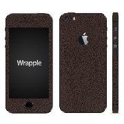 wraplus for iPhoneSE & iPhone5S/5 【ブラウンレザー】 スキンシール + 液晶保護フィルム