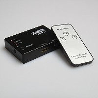 【PCATEC】 HDMI切替器/セレクター 3HDMI to HDMI(メス→メス) 3D対応 V1.4( 3入力 to 1出力)リモコン付