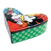 Enesco Disney by Britto Mickey & Minnie Ceramic Box Covered, 1.75-Inch/ロメロブリット/ディズニー/ボックス/小物入れ...