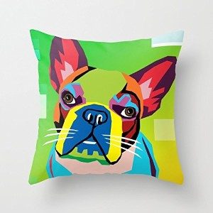 Dogs Throw Pillow Case 20 X 20 Inches / 50 By 50 Cm Best Choice For Pub,festival,car Seat,floor...
