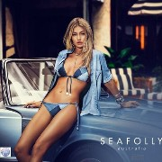 AUS★Seafolly★Out Of The Blueバッチワーク三角ビキニセット Seafolly(シーフォリー) バイマ BUYMA