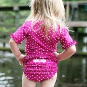 RuffleButts ラッフルバッツ水着 Berry 18-24m UPF50+ ラッシュガード Berry Polka Dot Ruffled Rash Guard Bikini (18-24m...