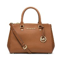 MICHAEL KORS SUTTON SMALL SAFFIANO LEATHER SATCHEL LUGGAGE [並行輸入品]