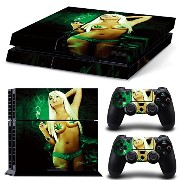 Sony PS4 Playstation 4 Skin Design Foils Faceplate Set - Cannabis Girl Design
