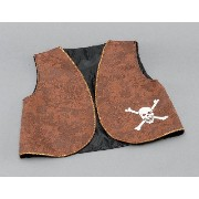 Bristol Novelty Pirate Waistcoat. Brown Distressed Costume Accessories - Men's - One Size