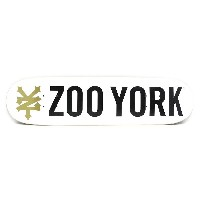 ZOO YORK DECK(ズーヨーク)デッキ TEAM PHOTO INCENTIVE・WHITE・8.0