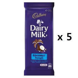 キャドバリー Coco Chocolate Block Dairy Milk Coconut Rough 200g 5EA [海外直送] [並行輸入品]