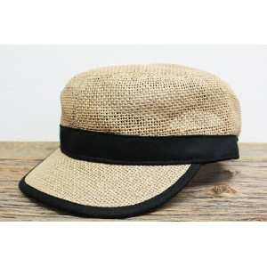 "BRONER ブローナー ""CADET"" PAPER WORKCAP (NATURAL/BLACK)"