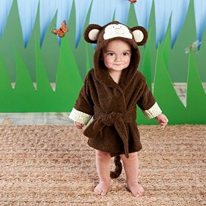 Baby Aspen Born to be Wild Monkey Hooded Spa Robe, Brown, 0-9 Months by Baby Aspen [並行輸入品]