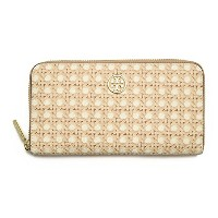 トリーバーチ TORYBURCH 21149156 282 ROBINSON PRINTED ZIP CONTINENTAL WALLET ラウンドファスナー長財布 RATTAN SLG ...