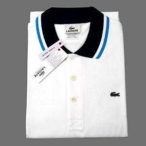 Lacoste 【ラコステ】 ポロシャツ ホワイト サイズ:S PH1405-51 ZQ8 S/S Semi Fancy Stretch Pique