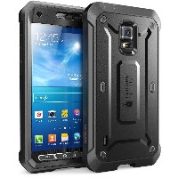 Samsung Galaxy S5 Active Case SUPCASE Unicorn Beetle PRO 衝撃吸収 全面保護 防塵 ハイブリッド ハードケース (Black/Black)