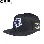 TRIBAL STREET WEAR CAP 帽子 スナップバック キャップ【T-STAR 25YEARS PUFF SNAPBACK】BLACK ブラック