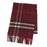 (バーバリー) BURBERRY A:MU GIANT ICON 168:CS:6022B マフラー #GIANT ICON 168 CORE CASHMERE 3826754 CLARET...