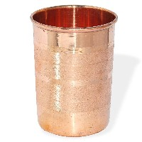 AsiaCraft Pure Copper V Shape Glass Tumbler, Set of 6