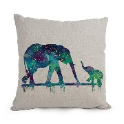 Elephant Throw Pillow Case 18 X 18 Inches / 45 By 45 Cm For Pub,him,living Room,living Room,shop...