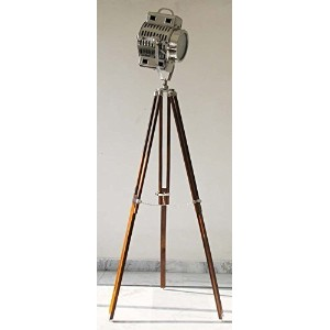 Marien Collecatable Industrial Hollywood Nautical Spot Searchlight Studio Floor Lamp W/Tripod Stand...