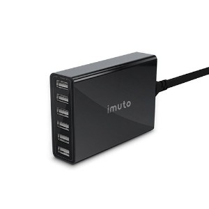 iMuto 50W/10A 6ポートUSB 急速充電器 ACアダプター iPhone 7 /7 Plus/6s/6s Plus/iPhone6/6 plus/iPhone5C/5S/5/4S/4...