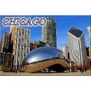 Chicago Bean Cloud Gate fridge magnet 75x50mm クラウド・ゲート-豆-シカゴ