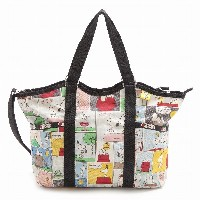 LeSportsac レスポートサック ピーナッツ スヌーピー トートバッグ 9811 Small Carry All P687 SNOOPY PATCHWORK [並行輸入商品]