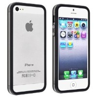 i-Beans【全16色】iPhone5 用バンパー ソフト+ハード アイフォン5 バンパーケース ブラック+クリア Bumper Case for iPhone 5(7876-16)