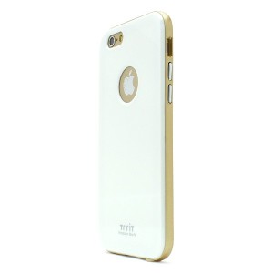 iPhone 6s ケース Tryit Slim Fit Case Metalic Series (White×Gold) for iPhone6s アイフォン6s