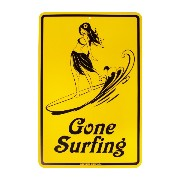 Seaweed Surf Co. STREET SIGNS Gone Surfing YE/ L 【サインプレート】 SF46 L