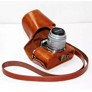 No1accessory XJPT-EPL5-09 ブラウン Olympus pen E-PL5 EPL5 E-PL6 EPL6 E-PM2 EPM2 (with 14-42mm lens) 専用...