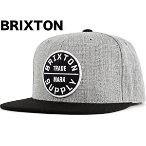 Brixton Oath III Snapback Hat Cap Light Heather Grey/Black キャップ 並行輸入品