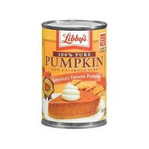 リビー100% ピュア パンプキン 425g 賞味期限 2018.2 Libby's 100% Pure Pumpkin 15 oz Best before February 2018.2
