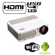 EZAPOR X760+ wifi LEDプロジェクター Android4.4.4 システム 2600lm HD1080P ビジネス用 USB HDMI VGA-In AV S-Video Mini...