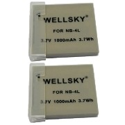 【WELLSKY】 『2個セット』 Canon キヤノン ● NB-4L ● 互換バッテリー● 純正充電器で充電可能 残量表示可能 純正品と同じよう使用可能 ● IXY 610F / 600F /...