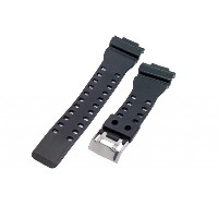 16mm Black Resin Watch Band Fits Casio G-Shock GA-100, GA-300, GA-120, GA-110C, GD-100, GAC-100, GA...