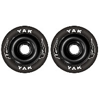 YAK SCAT High Performance Scooter Wheel (Aluminum Core/2nd) キックボード用ウィール 100mm x 88 前後Set (Black on...