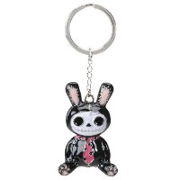FURRY BONES KEY HOLDER BLACK BunBun