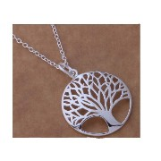 """""""Tree of Luck""""Silver Plated Pendants Charm Necklace for Women"""