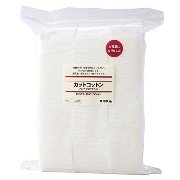 Authentic MUJI Japanese 100% Cotton Pads - Wicking Material - Each Pad Measures 65 x 50mm (Packs of...