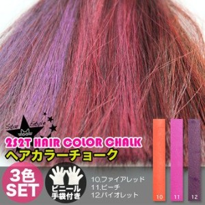 [2S2T HAIR COLOR CHALK] ヘアチョーク 3色セット(#10,#11,#12)