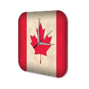 壁時計 wall clock World Trip Canada flag Decorative Plexiglass